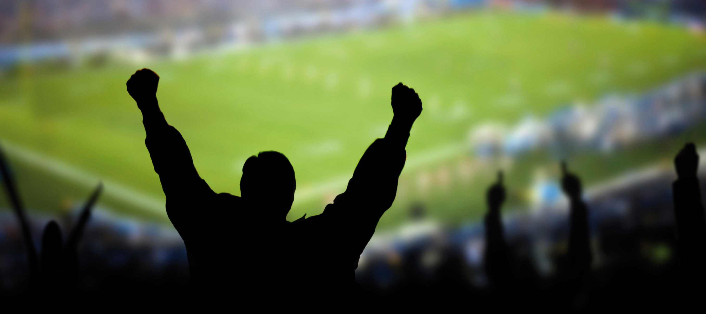 Footballcrowd, man cheering