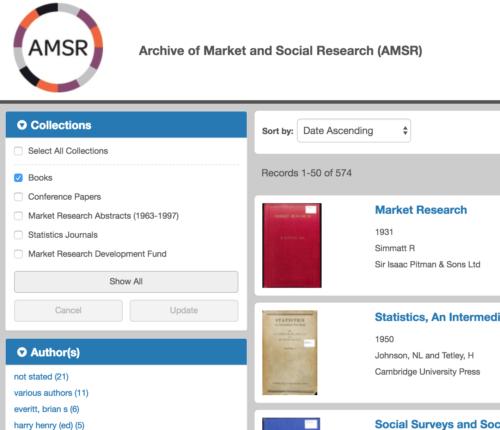 AMSR archive page - detail 1