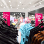In-store clothing sale