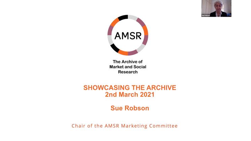 Sue Robson talk video still